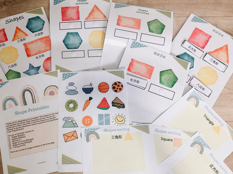Shapes bilingual learning activity