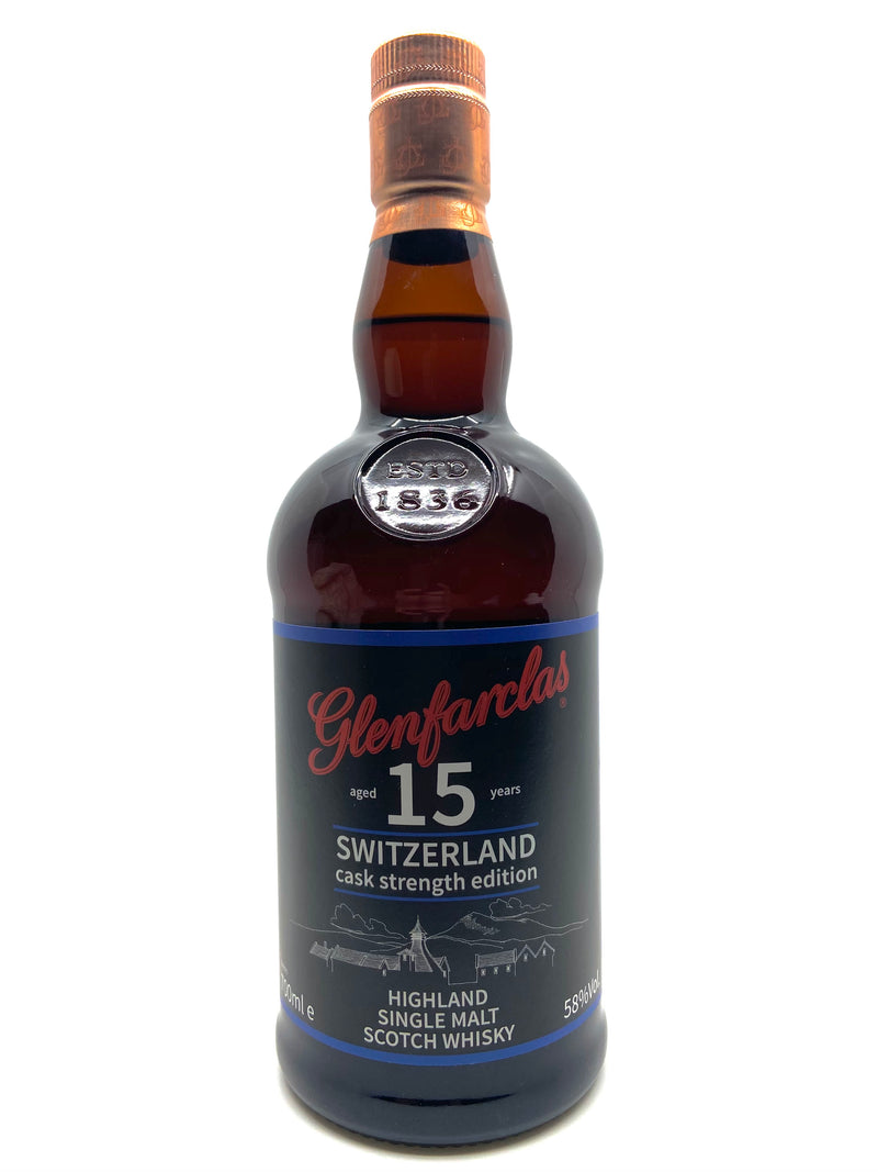 Glenfarclas 15 ans Switzerland Cask Strength Edition 58%