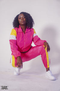 Cropped Windbreaker Jacket Set