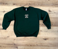 Jesus Is My Hero Logo Embroidered Sweatshirt - Forest Green