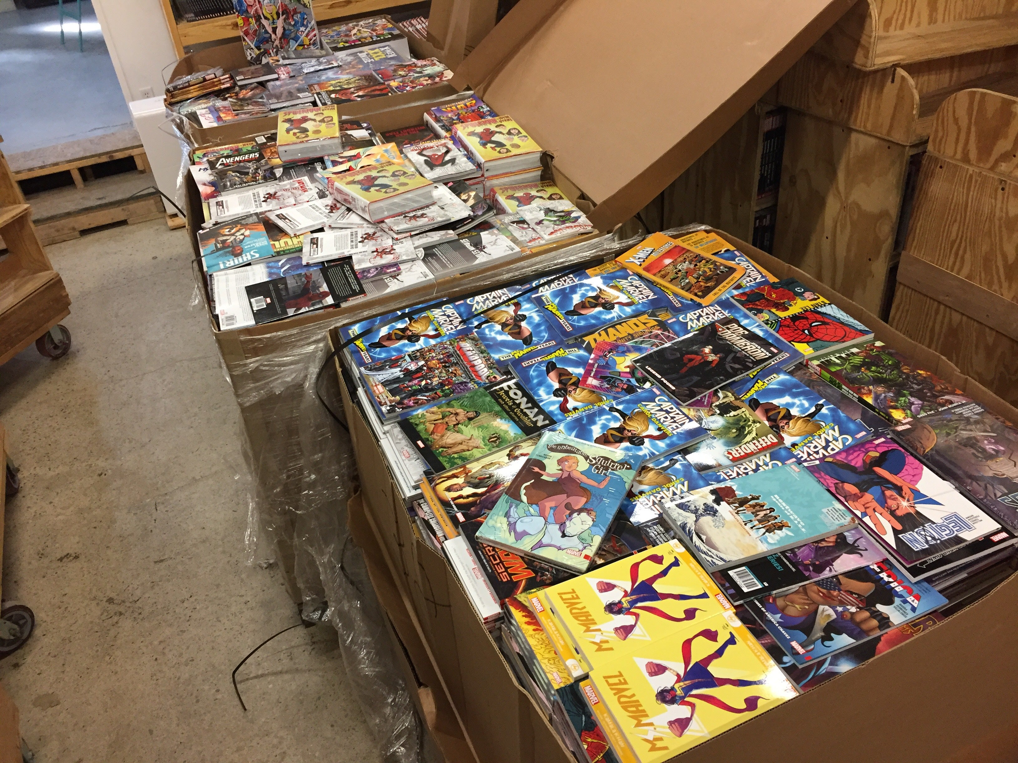 Marvel Comics Remainder Book Pallet