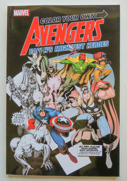 Color Your Own Avengers Earth's Mightiest Heroes Marvel Coloring Book