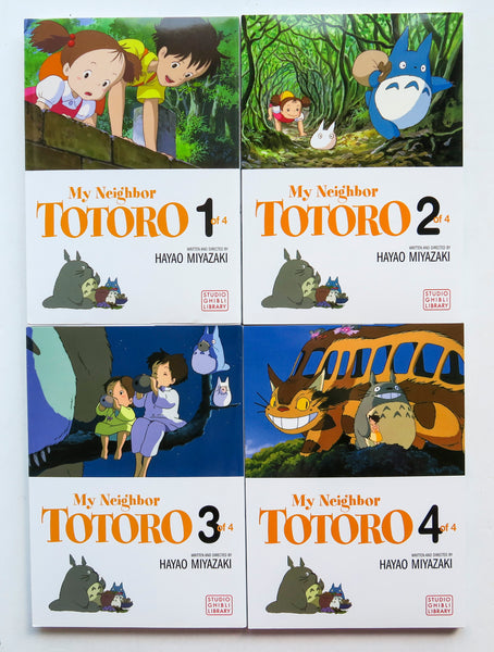 My Neighbor Totoro Vol. 1 2 3 & 4 Studio Ghibli Library Hayao Miyazaki Viz Media Manga Book Lot