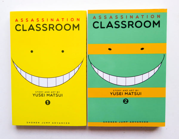Assassination Classroom Vol. 1 & 2 Yusei Matsui Shonen Jump Advanced Viz Media Manga Book Lot