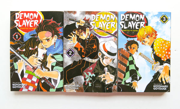 Demon Slayer Vol. 1 2 & 3 Kimetsu No Yaiba Koyoharu Gotouge Shonen Jump Viz Media Manga Book Lot