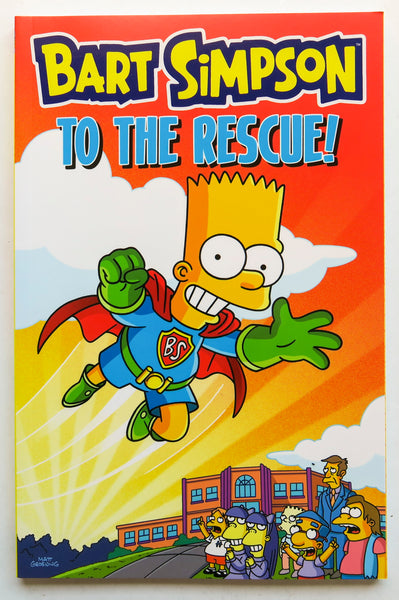 Bart Simpson To The Rescue Simpsons Groening Bongo Graphic Novel Comic Book
