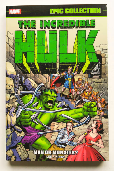 Incredible Hulk Man or Monster Marvel Epic Collection Graphic Novel Comic Book