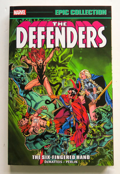 Defenders The Six-Fingered Hand Marvel Epic Collection Graphic Novel Comic Book