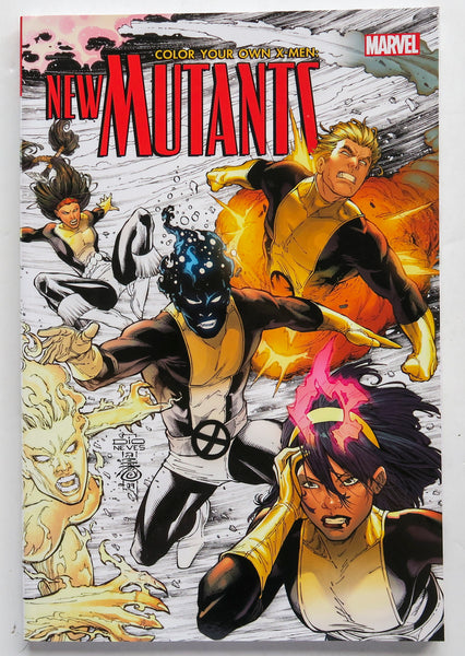Color Your Own X-Men New Mutants Marvel Coloring Book