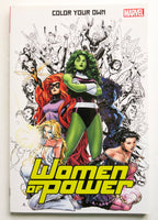 Color Your Own Women of Power Marvel Coloring Book