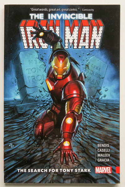Invincible Iron Man The Search for Tony Stark Marvel Graphic Novel Comic Book