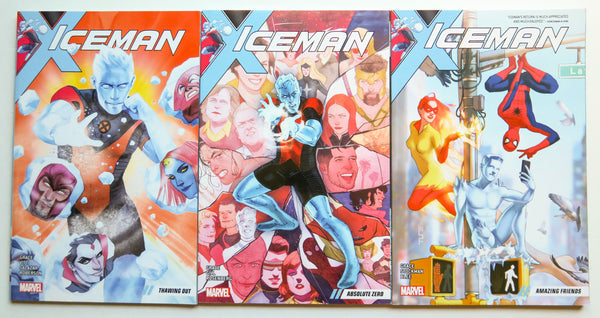 Iceman Vol. 1 2 3 Marvel Graphic Novel Comic Book Lot