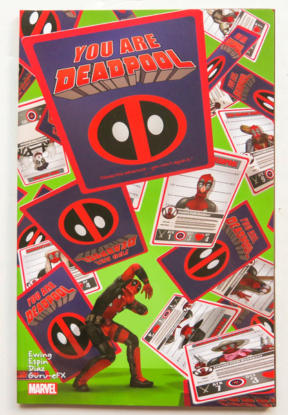 You Are Deadpool Marvel Graphic Novel Comic Book