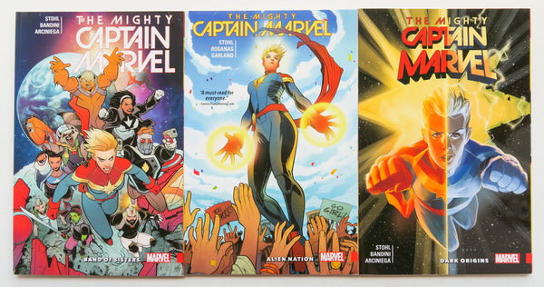The Mighty Captain Marvel Vol. 1 2 & 3 Marvel Graphic Novel Comic Book Lot