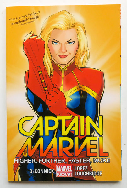 Captain Marvel Higher Further Faster More Vol. 1 Marvel Now Graphic Novel Comic Book