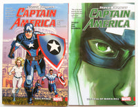 Captain America Steve Rogers Vol. 1 & 2 Marvel Graphic Novel Comic Book Lot
