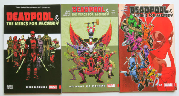 Deadpool & The Mercs For Money Vol. 0 1 & 2 Marvel Graphic Novel Comic Book Lot