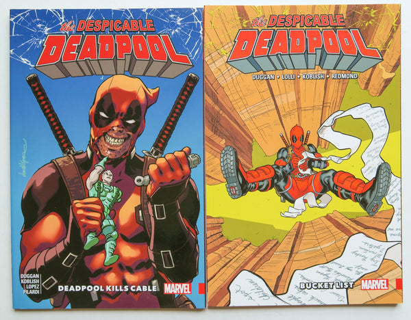 Despicable Deadpool Vol. 1 & 2 Marvel Graphic Novel Comic Book Lot