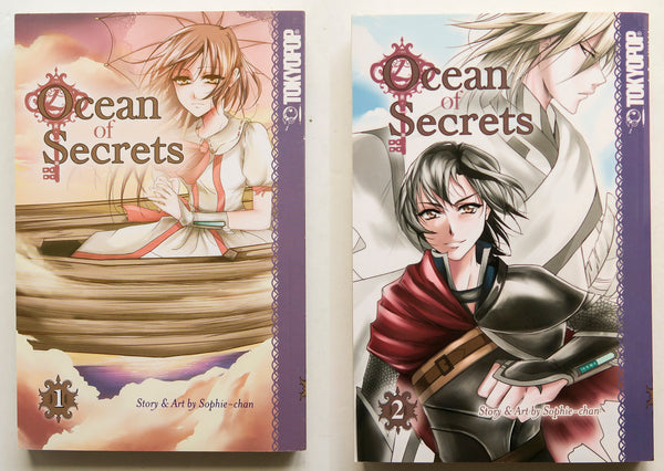 Ocean of Secrets Sophie-chan Vol. 1 & 2 Tokyopop Manga Book Lot