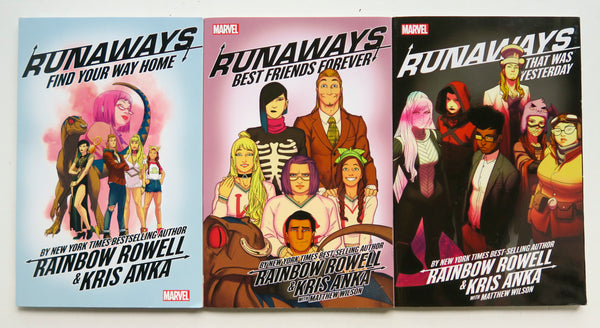 Runaways Vol. 1 2 & 3 Marvel Graphic Novel Comic Book Lot