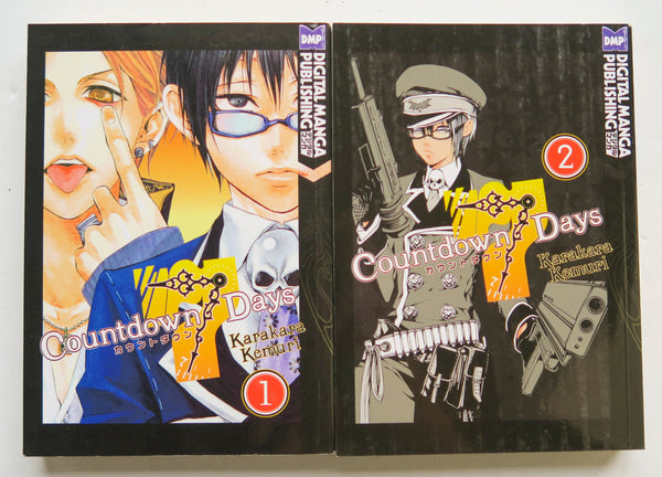 Countdown 7 Days Vol. 1 & 2 Karakara Kemuri DMP Manga Book Lot