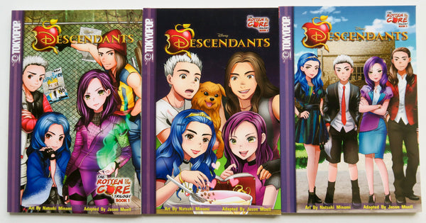 Disney Descendants The Rotten To The Core Trilogy Vol. 1 2 & 3 Tokyopop Graphic Novel Comic Book Lot