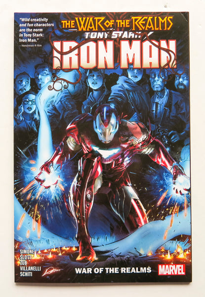 Tony Stark Iron Man Vol 3 The War of the Realms Marvel Graphic Novel Comic Book