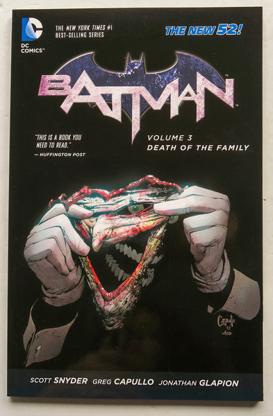 Batman Vol. 3 Death of the Family The New 52 DC Comics Graphic Novel Comic Book
