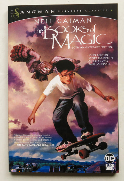 The Books of Magic 30th Anniversary Edition Neil Gaiman DC Black Label Graphic Novel Comic Book