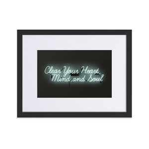 Clear Your Heart (Frame) Black 11.8 x 15.7 inch (30×40 cm)