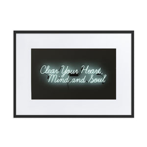 Clear Your Heart (Frame) Black 19.6 x 27.5 inch (50×70 cm)