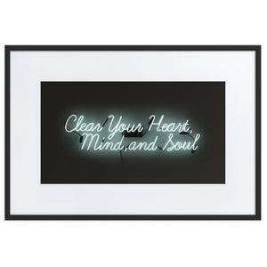 Clear Your Heart (Frame) Black 24.0 x 35.8 inch (61×91 cm)