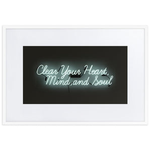 Clear Your Heart (Frame) White 24.0 x 35.8 inch (61×91 cm)