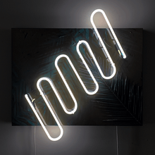 Load image into Gallery viewer, Glowing Palm (Wood Panel)