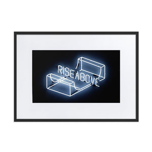 Rise Above (Frame) Black 19.6 x 27.5 inch (50×70 cm)