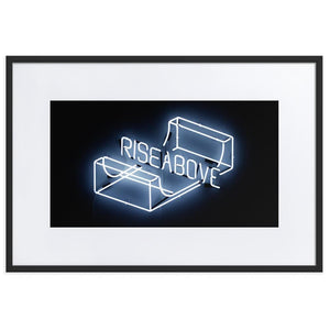 Rise Above (Frame) Black 24.0 x 35.8 inch (61×91 cm)