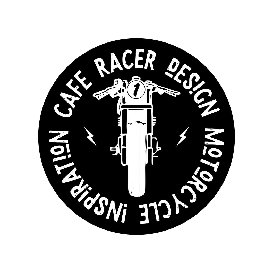 Sticker Cafe Racer Design Route 1