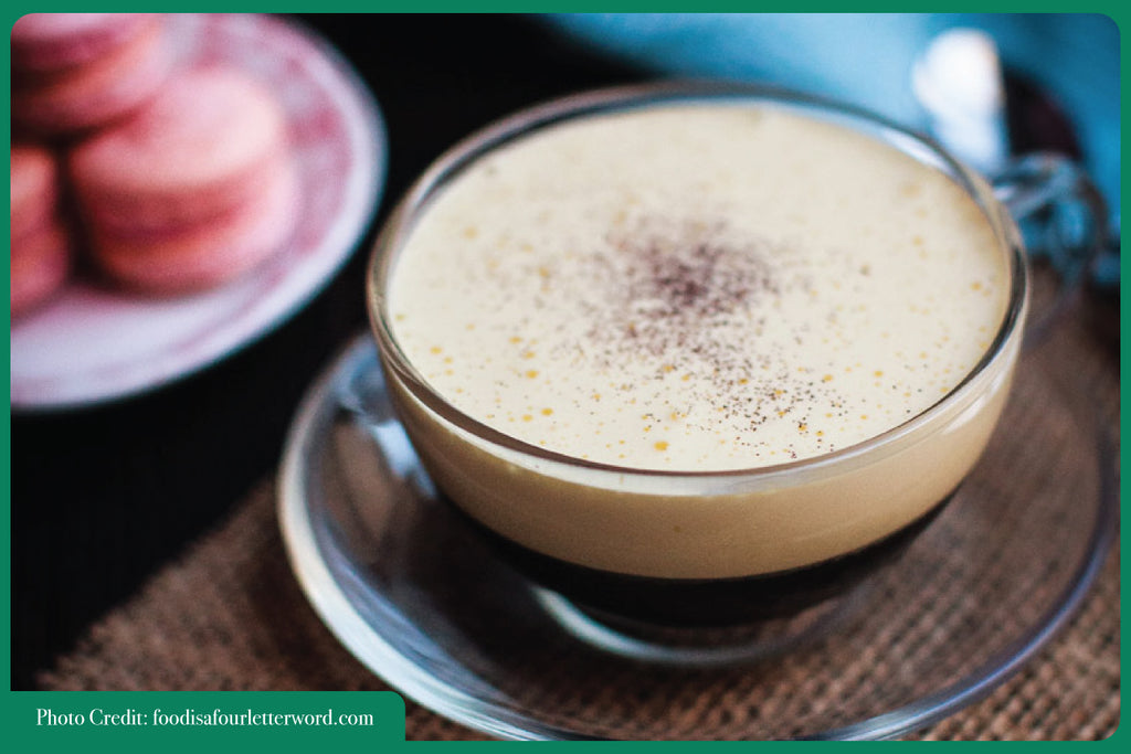 simple easy Christmas drink summer Viet egg coffee