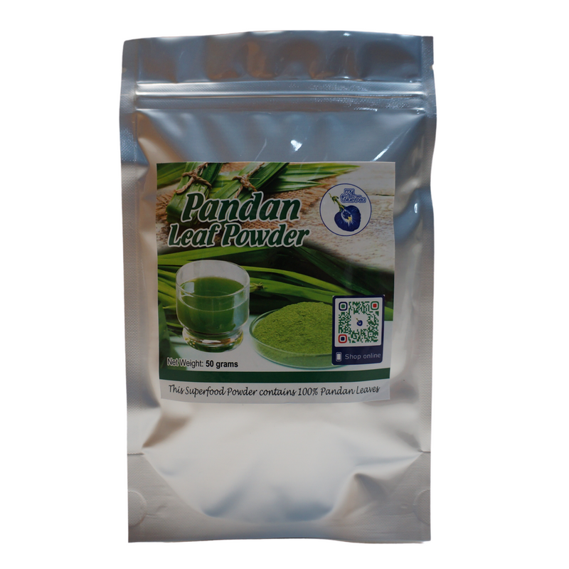 My Blue Tea Pandan Leaf Powder 50g - Asian PantryMy Blue Tea Asian Groceries