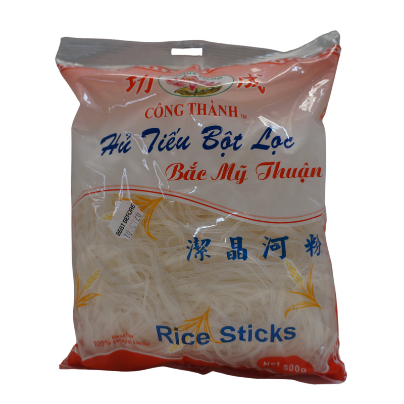 [FRESH] Lotus Food Hu Tieu Rice Noodles 500g Front