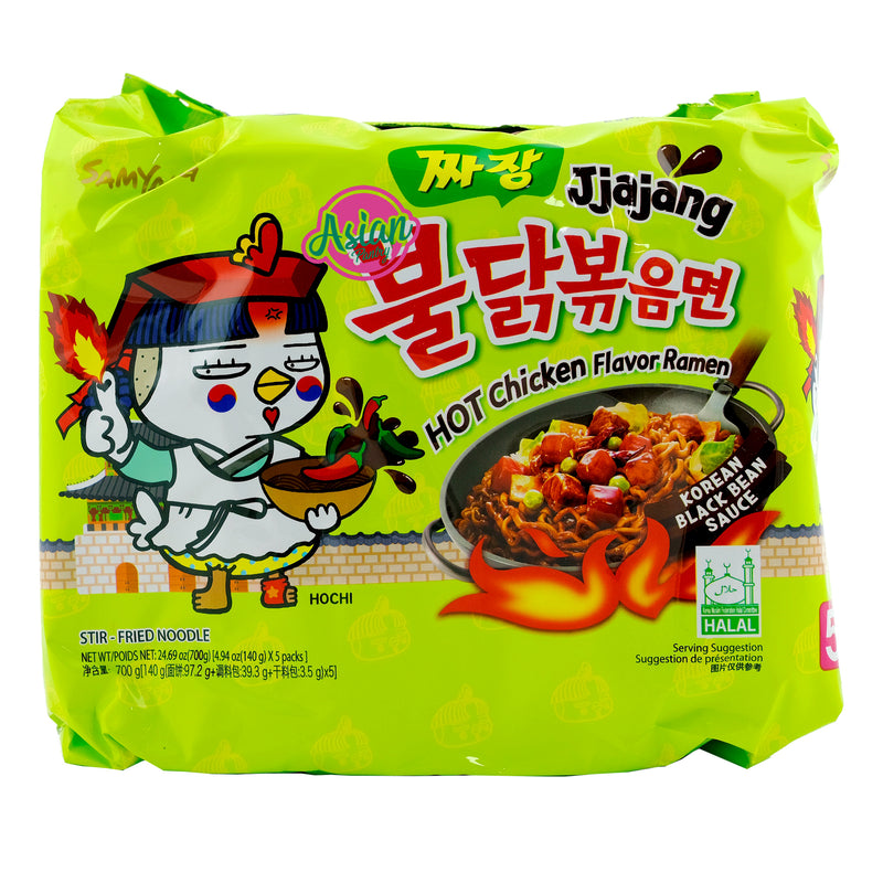 Samyang Jjajang Hot Chicken Ramen 5 Pack 700g Front