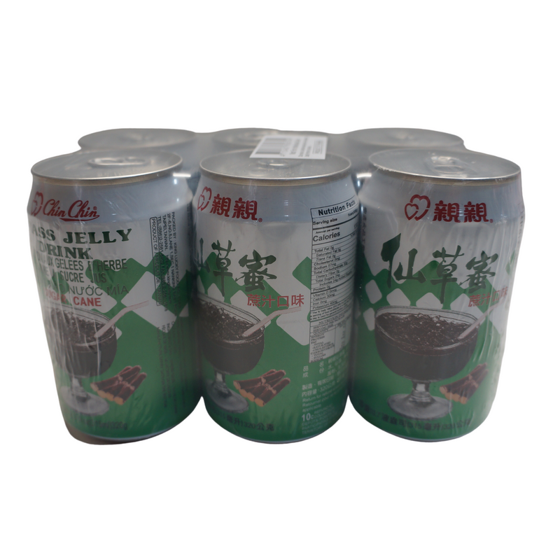 Chin Chin Grass Jelly Drink Sugarcane 6 Pack 1890ml Front