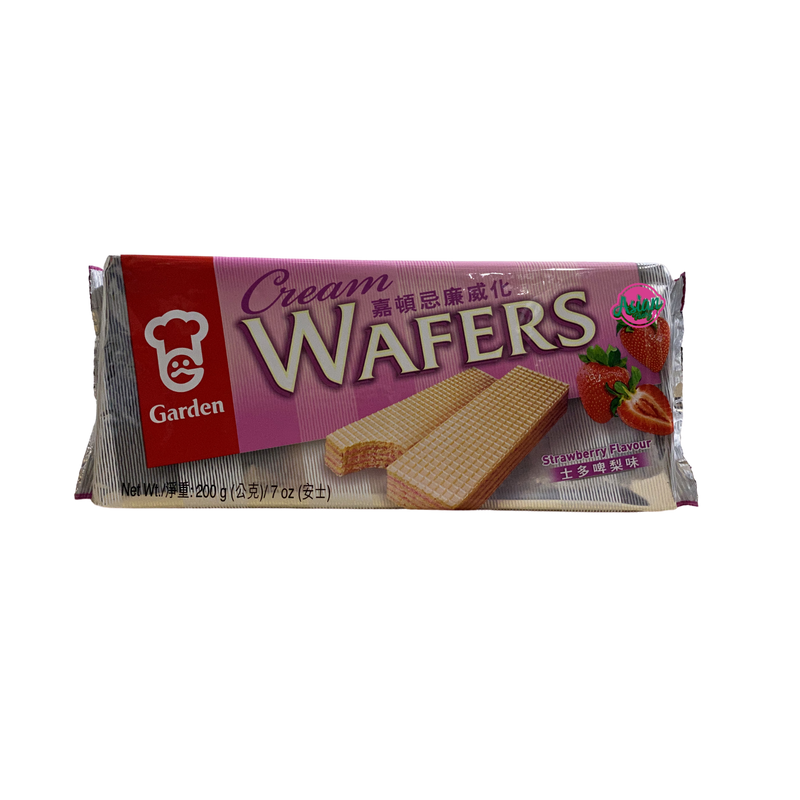 Garden Cream Wafers Strawberry Flavour 200g Front