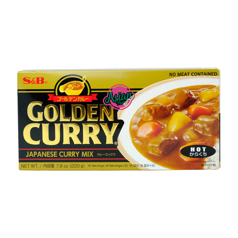 S&B Golden Curry HOT 220g Front
