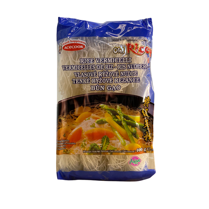 Acecook Oh Ricey Rice Vermicelli 400g Front