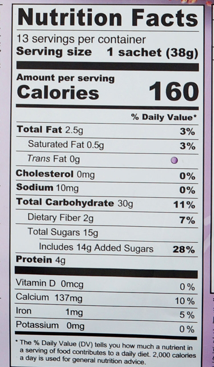Greenmax Yam & Mixed Cereal 494g Nutritional Information & Ingredients