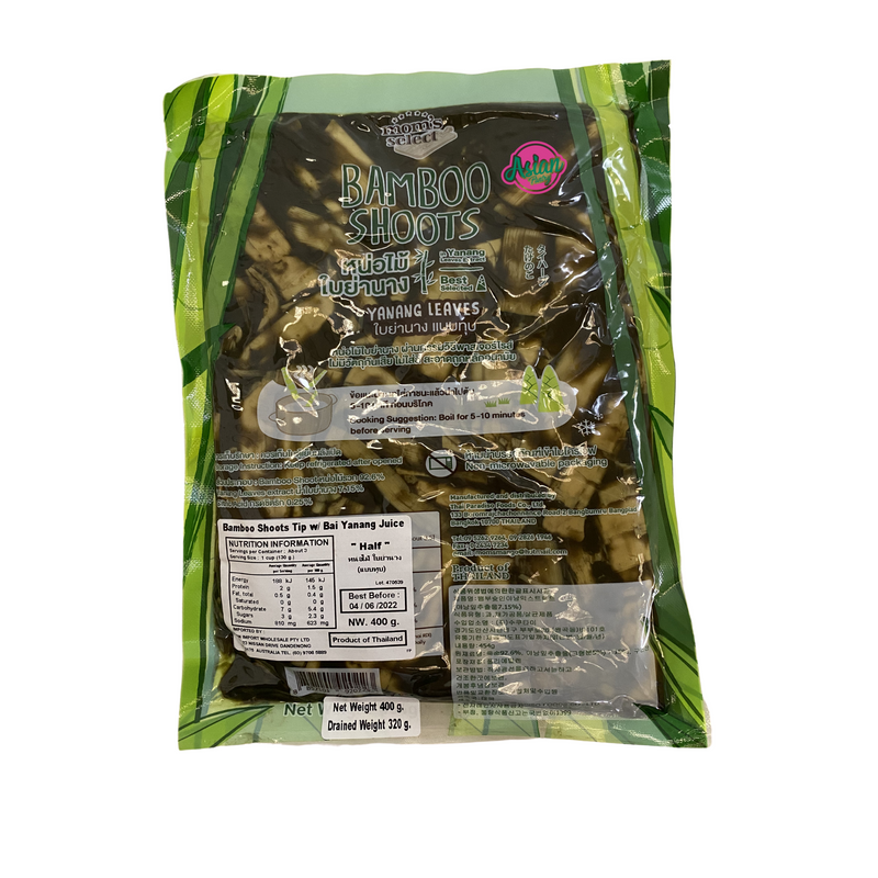 Mom's Select Bamboo Shoot Halves in Yanang Juice 400g Back