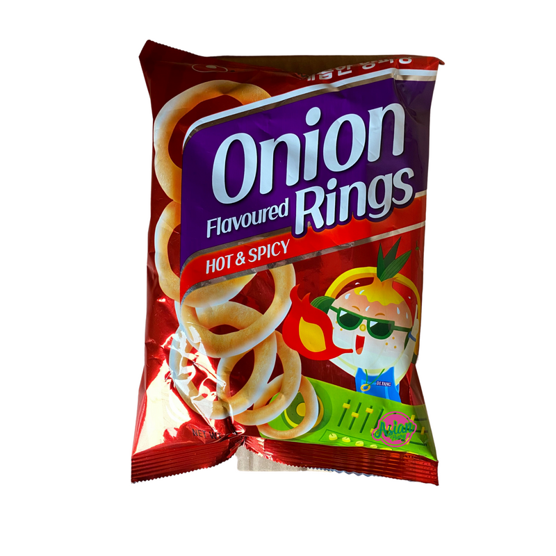 Nongshim Onion Flavoured Rings Hot & Spicy 40g Front