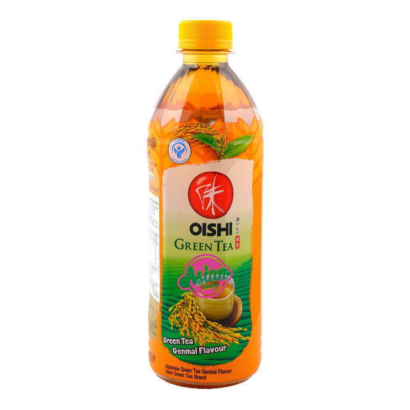 Oishi Genmai Green Tea 500ml Front