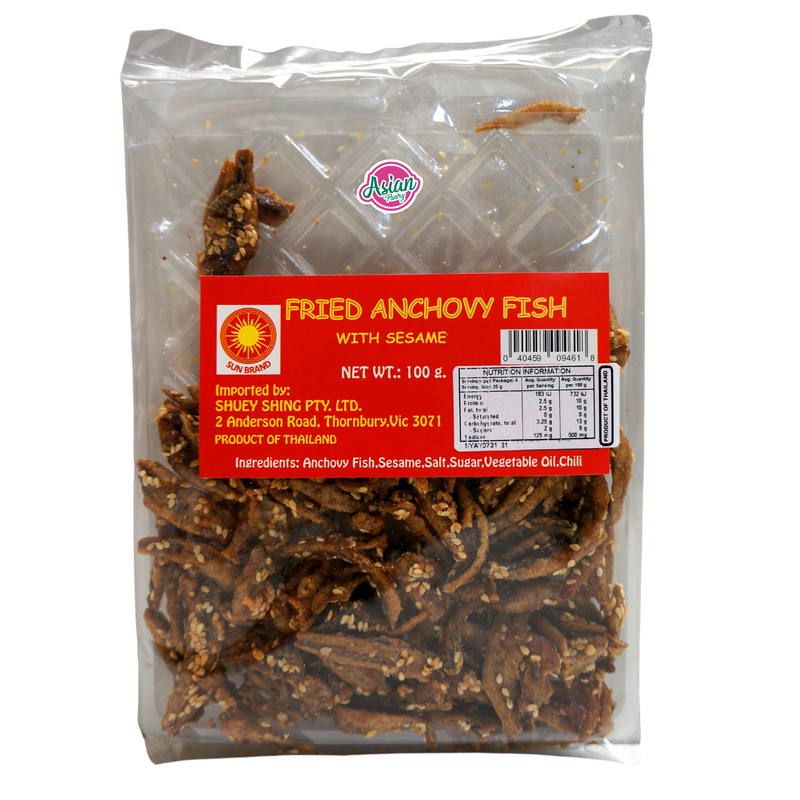 Sun Brand Fried Anchovy Fish with SESAME 100g Front